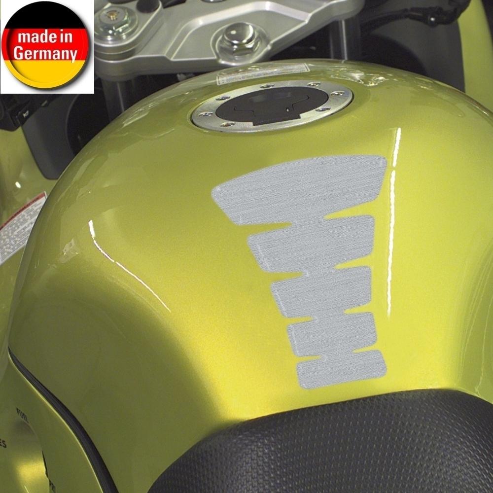HR Prewoodec Universal Motorrad Moped Bike Tankpad - Rippen groß - 172 x 113 x 2 mm, Made in Germany
