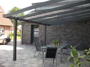 Alu-Terrassendach mit 8-mm VSG Glasbedachung Breite: 4 m – Bild 2