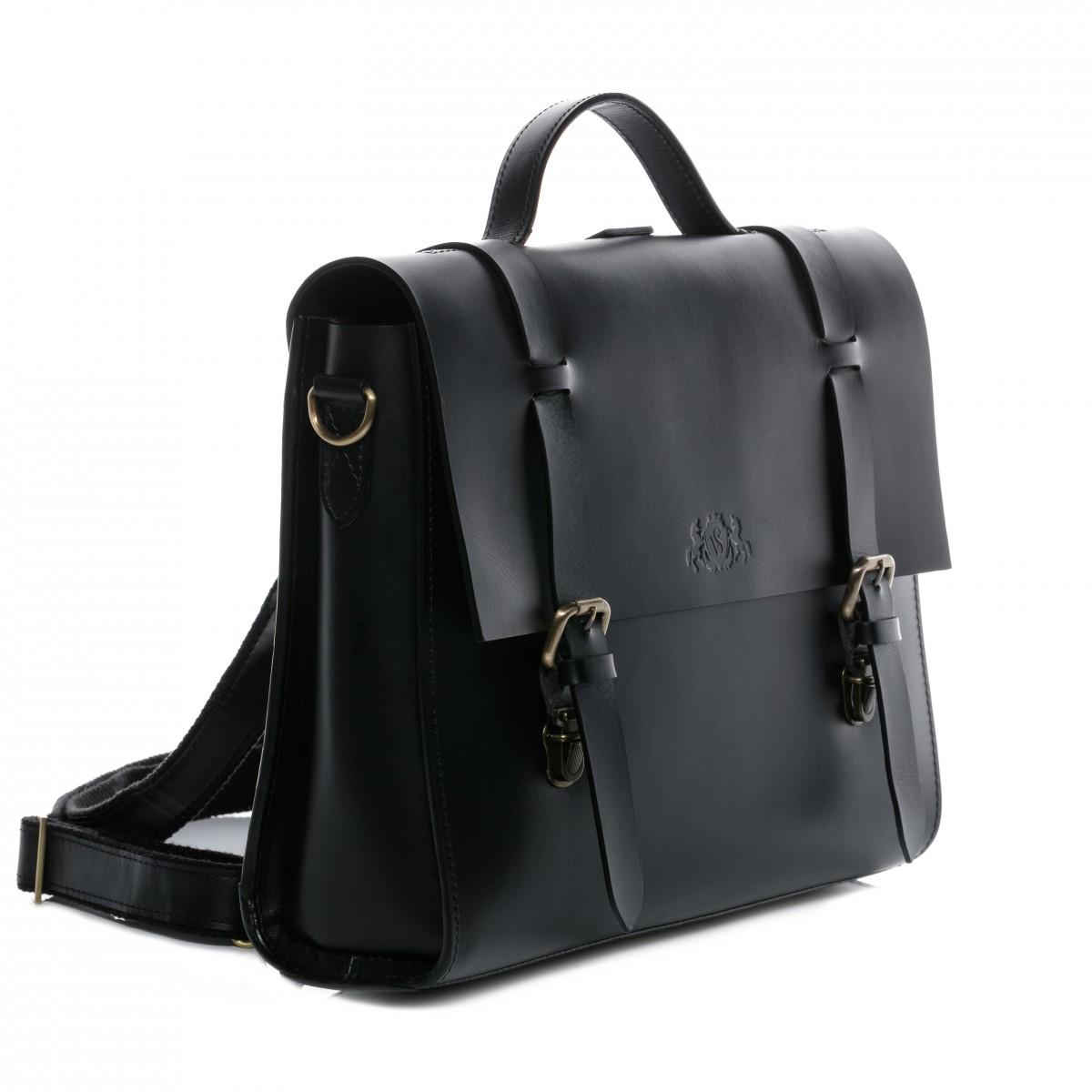 Hybrid-Rucksack schwarz Aktentasche