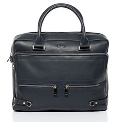 FERGÉ laptop bag BETH -75- business bag SMOOTH leather - grey