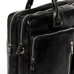 FERGÉ Laptoptasche BETH Premium Smooth schwarz Businesstasche Laptoptasche 6