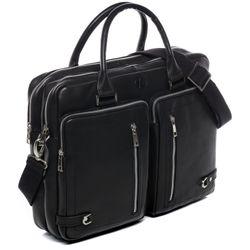 FERGÉ Laptoptasche BETH Premium Smooth schwarz Businesstasche Laptoptasche 8