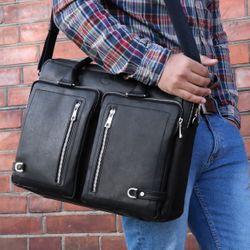 FERGÉ Laptoptasche BETH Premium Smooth schwarz Businesstasche Laptoptasche 3