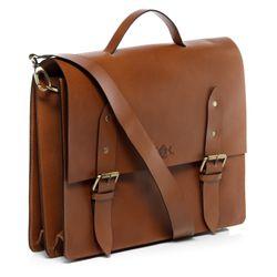 SID & VAIN serviette ordinateur portable cuir marron cartable porte-document attaché-case sac de travail avec sangle 2