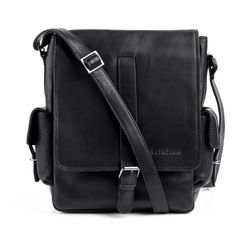 FEYNSINN messenger bag ASHTON -103- shoulder bag SMOOTH leather - black