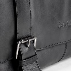 FEYNSINN Messenger bag Glattleder schwarz Laptoptasche Messenger bag 9