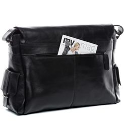 FEYNSINN Messenger bag Glattleder schwarz Laptoptasche Messenger bag 6