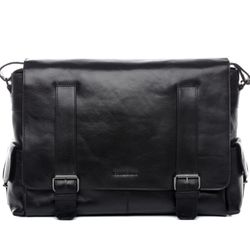 FEYNSINN Messenger bag Glattleder schwarz Laptoptasche Messenger bag 7