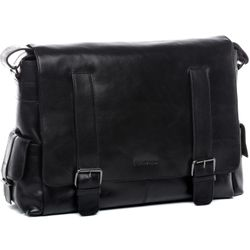 FEYNSINN Messenger bag Glattleder schwarz Laptoptasche Messenger bag 3