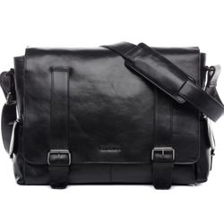 FEYNSINN Messenger bag ASHTON Premium Smooth schwarz Laptoptasche Messenger bag