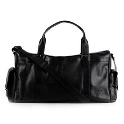 FEYNSINN travel bag ASHTON -105- weekender SMOOTH leather - black