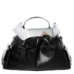 FEYNSINN sac de voyage cuir noir fourre-tout besace week-end sac sport bagages cabine à main 4