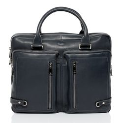 FERGÉ laptop bag BETH -76- business bag SMOOTH leather - grey