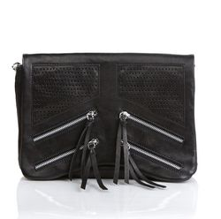 FEYNSINN clutch HALEY -129- evening bag WASHED leather - black