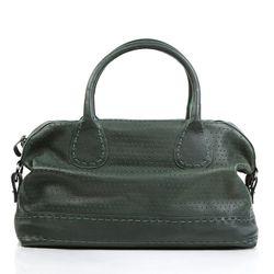 Feynsinn Handtasche Haley Ledertasche Damentasche - Leder Schultertasche, groß L, oliv-grün