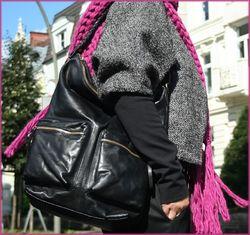 BACCINI Beuteltasche SOFIA Schultertasche L Glattleder Umhängetasche Beuteltasche Hobo Bag 7