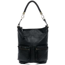 BACCINI hobo bag SOFIA -K-10-6490- shoulder bag Havana leather - black