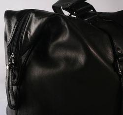 BACCINI sac de voyage GRETA sac sport bagages cabine à main grand en cuir noir 4
