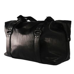 BACCINI travel bag GRETA -32- weekender SMOOTH leather - black