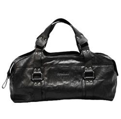 BACCINI tote bag & shoulder bag GRETA -33- handbag SMOOTH leather - black