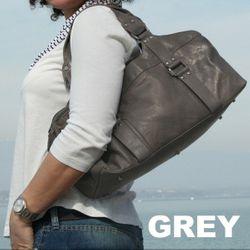 BACCINI Handtasche langen Henkeln GRETA - Schultertasche M Leder braun Handtasche 5