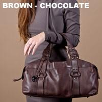 BACCINI Handtasche langen Henkeln GRETA - Schultertasche M Leder braun Handtasche 6