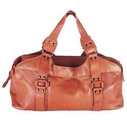 BACCINI tote bag & shoulder bag GRETA -33- handbag VT-ANALIN leather - tan-cognac 1