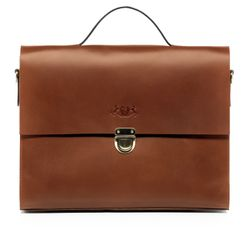 SID & VAIN Aktentasche Trish Ledertasche Businesstasche - Leder Laptoptasche, Medium, hellbraun-cognac
