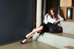 BACCINI tote bag & cross-body bag DAPHNE  handbag M black Smooth Leather shoulder bag  4