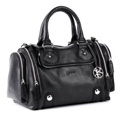 BACCINI tote bag & cross-body bag DAPHNE -139- handbag SMOOTH leather - black