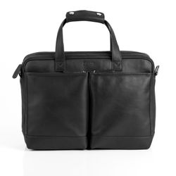 BACCINI Laptoptasche MARCO Premium Smooth schwarz Businesstasche Laptoptasche