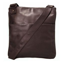 BACCINI cross-body bag MATTEO -80- messenger bag SMOOTH leather - brown