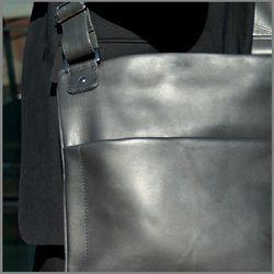 BACCINI Umhängetasche MATTEO Premium Smooth schwarz Schultertasche Umhängetasche 3