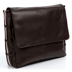 BACCINI Messenger bag Glattleder braun Laptoptasche Messenger bag