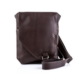 BACCINI messenger bag BRIZIO -97- shoulder bag CRUMPLY leather - brown-crumply