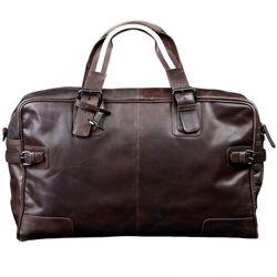 BACCINI sac de voyage ROBERTO sac sport bagages cabine à main grand cuir marron