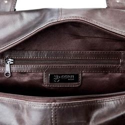 BACCINI cross-body bag MATTEO -80- messenger bag CRUMPLY leather - brown-crumply 3