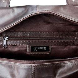 BACCINI cross-body bag MATTEO -80- messenger bag CRUMPLY leather - brown-crumply 3