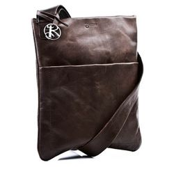 BACCINI sac à bandoulière MATTEO sac en cuir avec sangle sacoche grand marron