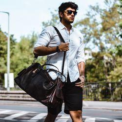 travel bag holdall  ASHTON Crumply Leather 5