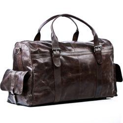 travel bag holdall  ASHTON Crumply Leather 4