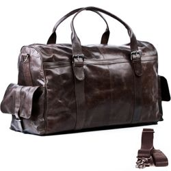 travel bag holdall  ASHTON Crumply Leather 2