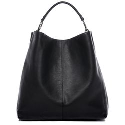 BACCINI hobo bag ELISA -114- shoulder bag COLUMBIA-NAPPA leather - black