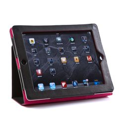 Feynsinn Tablet-Hülle Display-Ständer Ipad Cover - Leder Ipad-Tasche, Medium, schwarz 1