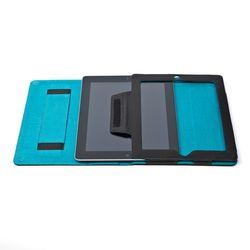 FEYNSINN Tablethülle Glattleder schwarz Cover Tablet-hülle mit Display-Ständer 2
