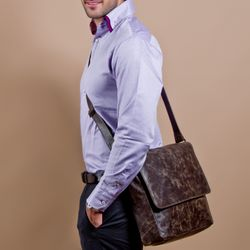 messenger bag STAN Distressed Leather 5