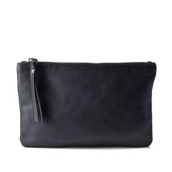 BACCINI cosmetic bag MEL  make-up pouch S black Smooth Leather makeup bag