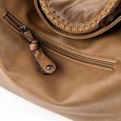 HERGÉ sac porté épaule Similicuir marron cabas elégant ville travail  Shopper avec sangle 4