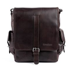 FEYNSINN messenger bag ASHTON -103- shoulder bag CRUMPLY leather - brown-crumply