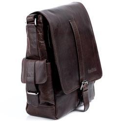 FEYNSINN messenger bag ASHTON 13'' shoulder bag XL brown Smooth Leather cross-body bag  2